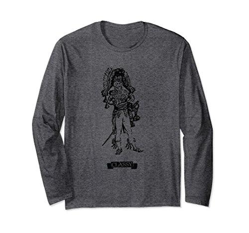 Unisex Classy Long-Sleeved T-Shirt 2XL Dark - Duds Classy