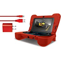 Dg3Dsxl-2275 Kit Power com Protetor em Silicone Para Nintendo New 3Ds Xl, Dreamgear, Vermelho - Android