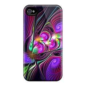 Unique Design Iphone 4/4s Durable Tpu Case Cover Abstract Hd Colors