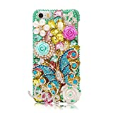 Iphone 6 Case,Iphone Case - EVTECH 3D Handmade Bling Crystal Butterfly and Flowers