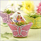 Butterfly Garden Gift Baskets with Wildflower Seed Packets Baby Shower Favors - Set of 12