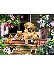 Diamond Painting Kits voor Kinderen, Diamond Painting Kits voor Volwassenen Honden Familie Rhinestone Kruissteek Borduurpakketten Craft Canvas Wall Decor Stickers Slaapkamer Decoratie 40x30 cm