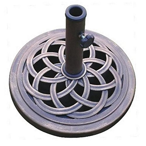 DC America Cast Stone Umbrella Base, Made from Rust Free Composite Materials, Bronze Powder Coated Finish 51ixx3JMjOL