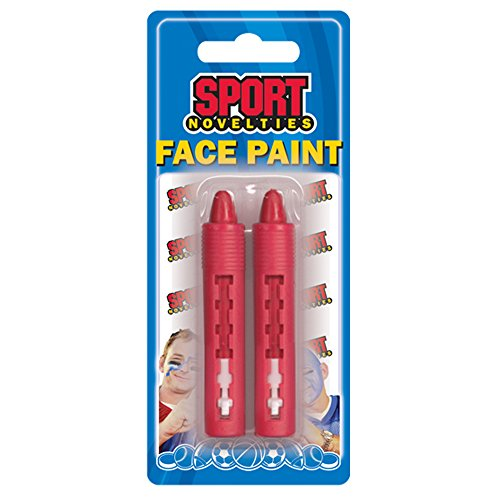 Sports Novelties Face Paint Stick (Pack of 2), Red -
