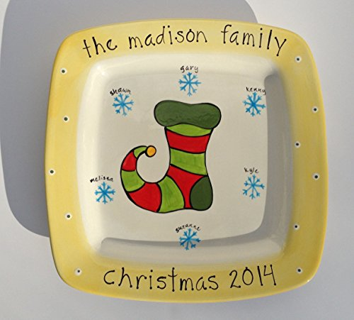 personalized christmas holiday family platter * christmas stocking