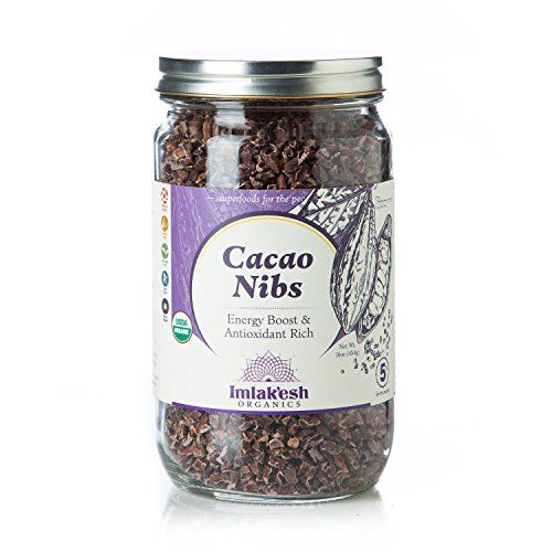 Imlak'esh Organics Cacao Nibs, 16-Ounce Jar