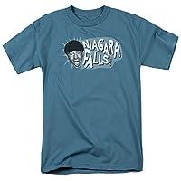 Trevco Men's Three Stooges Short Sleeve T-Shirt, Slate, Medium