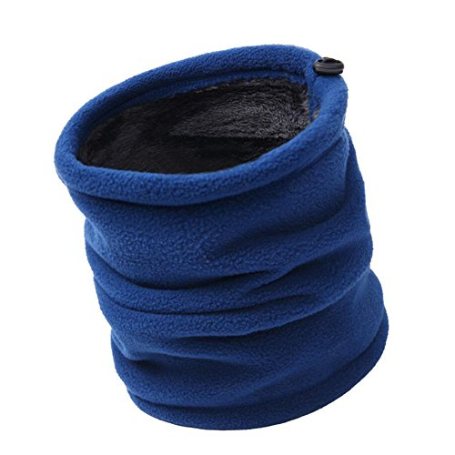 Mojing Outdoor Neck Warmer Fleece Thickening Windproof Winter Snood -Multifunction Men &Women Cycling Running Neck Tube (blue)