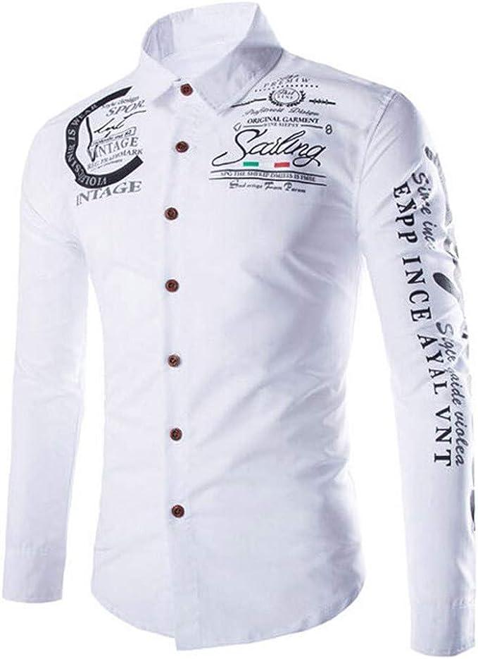 Camisas De Vestir De Fibra De Bambú para Hombre Slim Fit Color Sólido Camisas Casuales De Manga Larga Camisas con Botones (I, L): Amazon.es: Ropa y accesorios