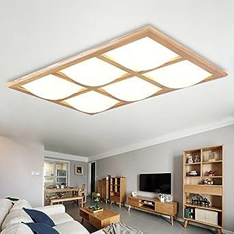 Clg Fly Einfache Wohnzimmer Lampe Eckig Modern Licht Gekleidet In Japanischem Stil Aus Holz