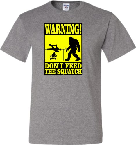 XX-Large Oxford Adult Warning! Don''t Feed The Squatch Funny Bigfoot Sasquatch T-Shirt
