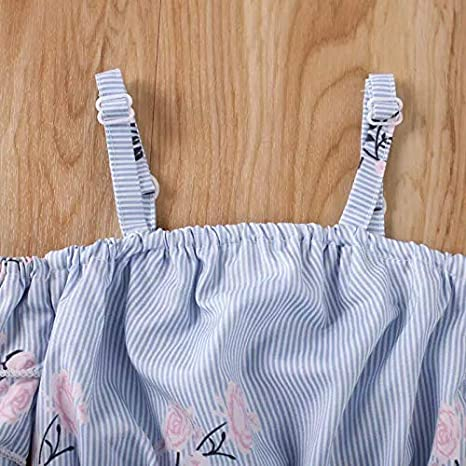 Thorn Tree Toddler Baby Girl Clothes Summer Ruffle Strap Top Shorts Outfits Suit Baby Clothes Casual Set Baby Newborn Infant