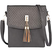 Deals on RiscaWin Tassel Crossbody Bag Purse w/Rivet Shoulder