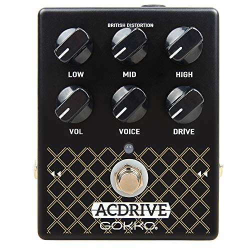 GOKKO ACBOX Guitar Distortion Pedal with EQ and Voice Control, Vox AC30 Amp Simulator for Electric Guitar