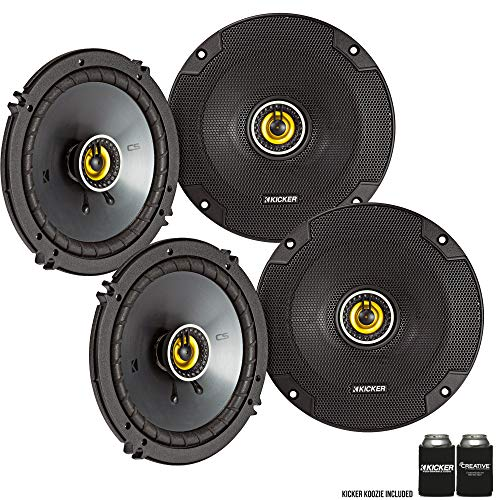 (Kicker 46CSC654 - Two Pairs of CS-Series CSC65 6.5-Inch (160mm) Coaxial Speakers, 4-Ohm (2 Pairs) )