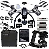 Yuneec Q500 4k RTF w/CGO3 ST10+ in Aluminum Case includes 2 64GB Micro SD Memory Card + 2 Extra YUNEEC 3.5 A DC Balancing Smart Charger + 2 Extra AC Adapter Charger + 2 Replacement Battery & More!