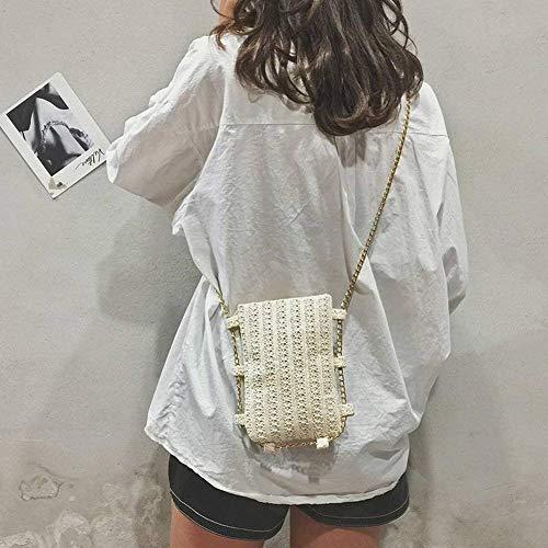 Y De Vertical Polieren Mujer Para Wild Hombro Tejida Fresca Teléfono Cuadrada Mujer Móvil Messenger Cuadrado Trend Raíz Simple Bolsa Superfic Bag Pequeña Única PwZqOBnE