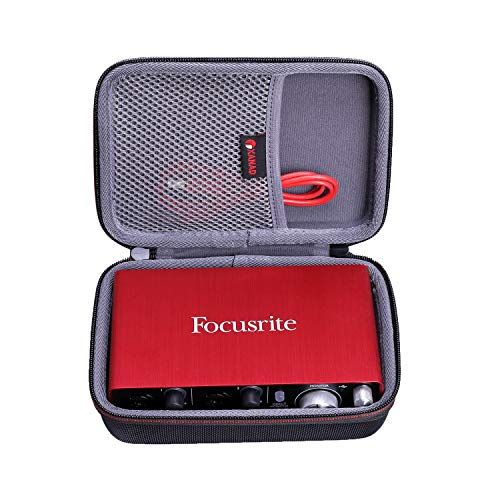 XANAD Hard Case for Focusrite Scarlett 2i2 (2nd Gen) or Focusrite Scarlett Solo (2nd Gen) USB Audio Interface - Travel Carrying Storage Protective Bag
