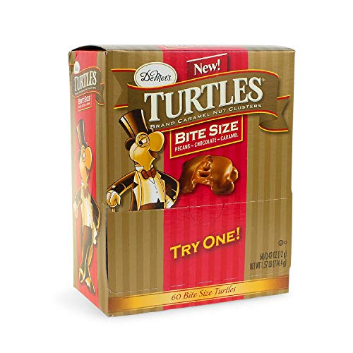 DeMet's Bite Size Turtles Candy, 60 count, 1.57 lbs