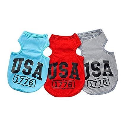 DealMux camisa do cão dos EUA 1776 roupas para cães de pequeno porte do cão do