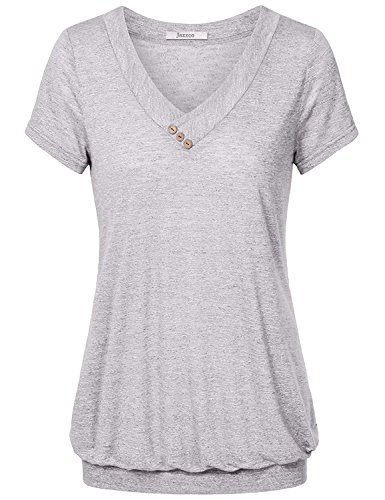 women-short-sleeve-tops-jazzco-womens-v-neck-light-weight-casual-loose-fit-comfy-shirts-pleated-knit