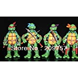 Sea Love 4 Pcs Tmnt Teenage Mutant Ninja Turtles Classic Collection Action Figures Set