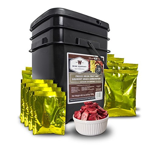 - Wise Company Fruit & Snack Bucket 120 Servings, Black/Beige, 7 lb
