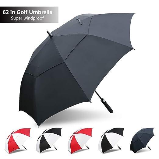 0d274d87cf7c Golf Umbrella Windproof Large 62,Double Canopy Vented,Auto Umbrella  Windproof Waterproof Stick Umbrellas