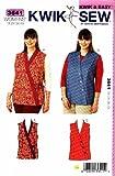 Kwik Sew Sewing Pattern 3641 Women's Plus Size 1X-4X (approx 22W-32W) Wrap Front Vests