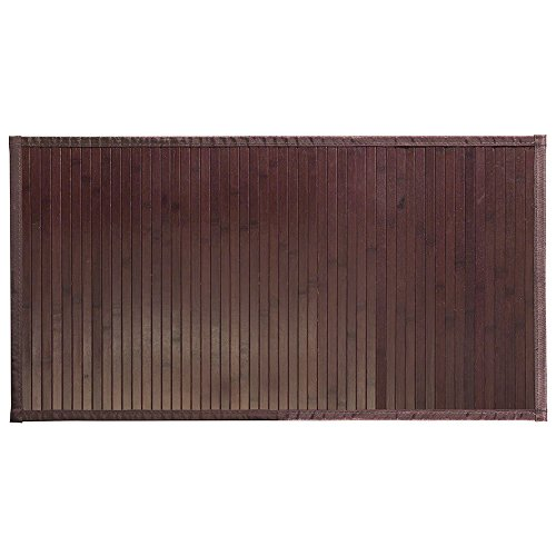 "Walnut Bath - InterDesign 81038 Bamboo Floor Mat – Ideal Mat for Kitchens, Bathrooms or Offices - 21"" x 34"", Mocha"