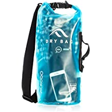 Acrodo New Waterproof Dry Bag - Transparent 10 & 20 Liter Floating Sack for Boating, Beach, Kayaking, Swimming, and Travel With Shoulder Strap - Bags Keeps Personal Belongings Superdry & Protected