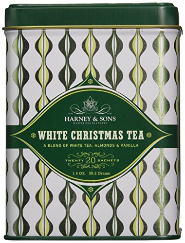 White Christmas, 20 Sachets in Decorative Tin by Harney & Sons (White Tea Christmas)