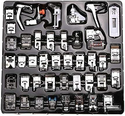 Kit de costura: 7 – 52 piezas/juego de prensatelas para máquinas ...