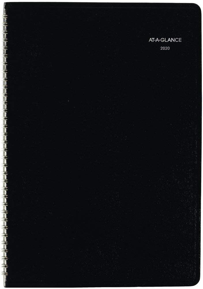 "AT-A-GLANCE 2020 Monthly Planner, DayMinder, 8"" x 12"", Large, Black (G47000)"