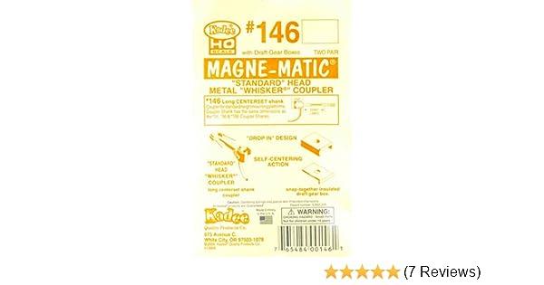 Metal Whisker Magne-Matic Coupler Long Kadee 146 2 pairs