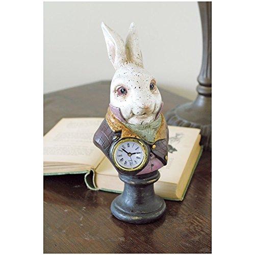 Alices In Wonderlands White Rabbit Resin Desk Clock (Clock Rabbit)