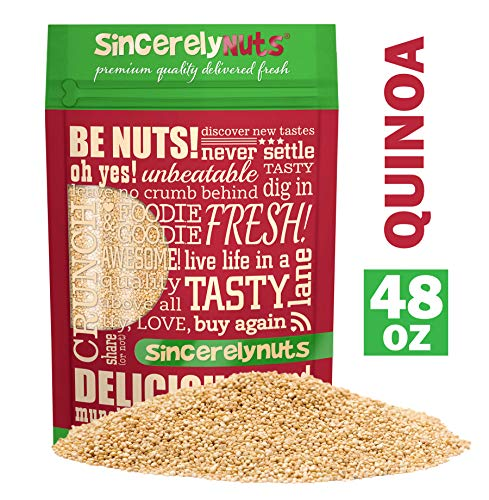 Sincerely Nuts White Quinoa Three LB Bag — Delicious, and Gluten Free — Pre-Washed — Packed with Protein, Fiber and Essential Amino Acids — Certified Kosher