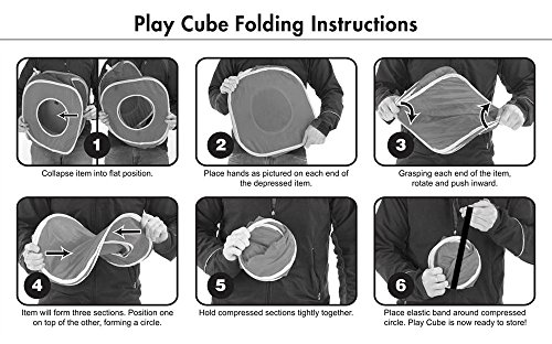 Kitty City Jungle Cat Cube Combo, Collapsible Cat Cube, Cat Bed, Tunnel, Cat Toys 6