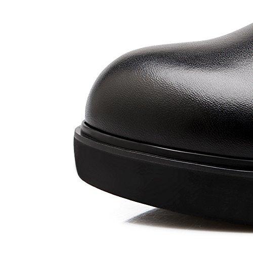 Minivog Épais Semelle Hauteur Croissante Cusual Boucle Latérale Glissière Noire Chaussons