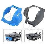 EXSPORT 2 Pack Mavic Lens Hood Sun Shade Lens Hood Gimbal Protective Cover For DJI Mavic Pro, Lens Hood Sun Protector for Mavic Pro ( Gray & Blue )