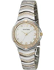Armitron Womens 75/5431WTTT Swarovski Crystal Accented Two-Tone Bracelet Watch