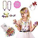 Inseacat ポップスナップビーズ、美しいクラフトおもちゃのジュエリー作成キット 4、5、6、7歳の女の子の幼児用 - ネックレス、ブレスレット、リングクリエイティブDIYセット - 理想的な誕生日&教育ギフト