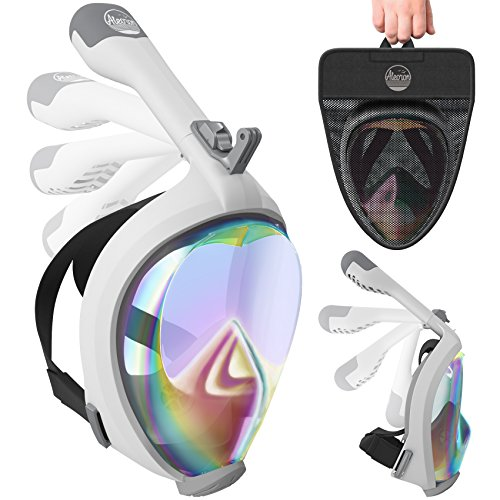 Easy Breath Surface Scuba Mask Full Face Design For Action Camera (Black) - 4