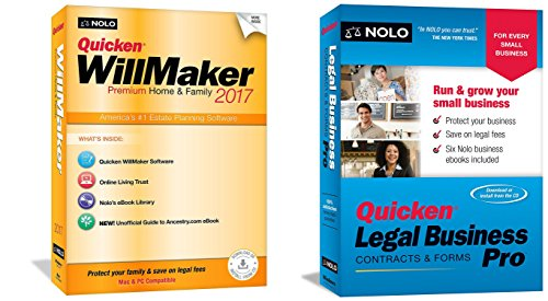 BUNDLE: Willmaker Premium Home & Family 2017 AND Legal Business Pro 2017