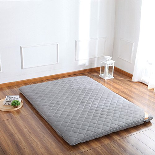 hxxxy Tatami floor mat,Floor mat Futon mattress topper Traditional japanese futon Plenty thick Queen size Single size Dorm-B 100x200cm(39x79inch) by hxxxy