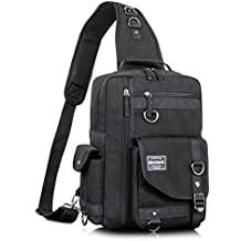 Leaper Messenger Bag Outdoor Cross Body Bag Sling Bag Shoulder Bag Black2
