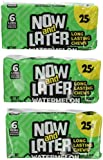 Now & Later Original Chews Candy, Watermelon Flavor, 0.93 Ounce Bar,  (Pack of 24)
