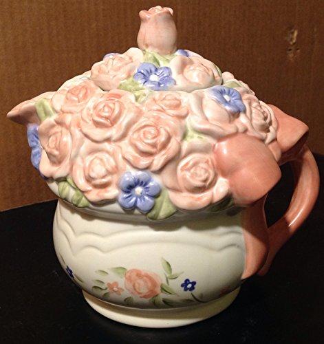 Pfaltzgraff Tea Rose Sculpted Teapot