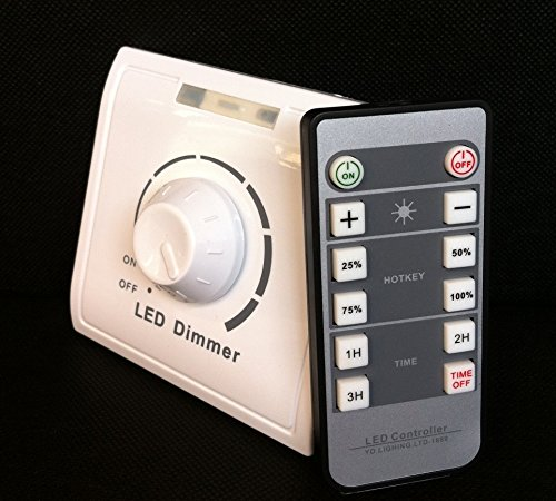 250w Remote (110V-240V Max Output 250W IR Dimmer Switch for Led Lights Infrared Remote Control Adjust the Lamp Freely)
