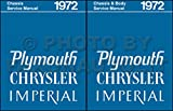 COMPLETE & UNABRIDGED 1972 CHRYSLER & IMPERIAL BODY REPAIR SHOP & SERVICE MANUAL INCUDES: Imperial Le Baron, New Yorker, New Yorker Brougham, Town & Country, Newport Custom, and Newport Royal. 72